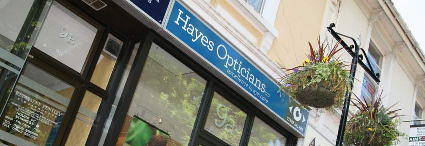 Hayes Opticians Shop Frontage