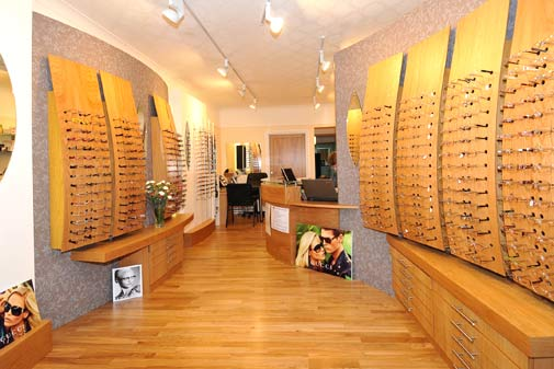 Hayes Opticians Interior Shot