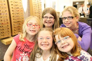 Pictures of children with glasses on at Hayes Opticians Torquay