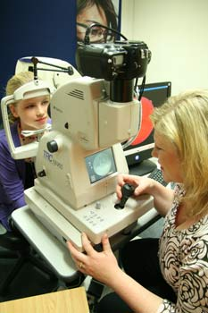 Hayes Opticians Retina Scanner